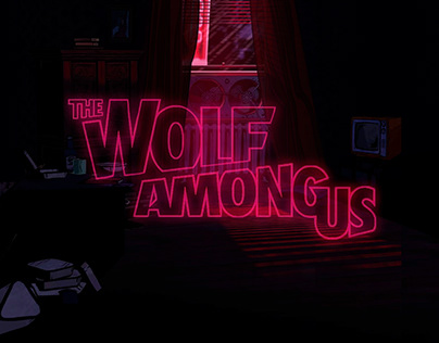 Web design of the game Wolf among us by TellTale