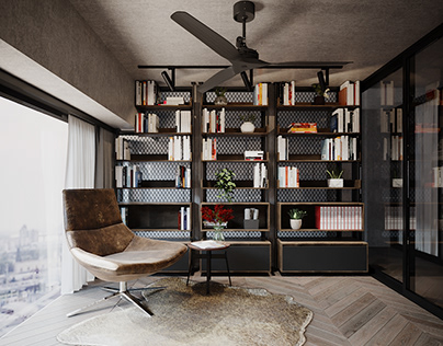 industrial style penthouse