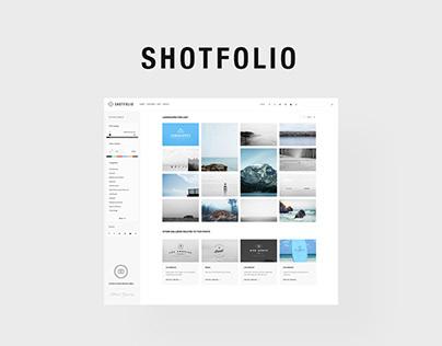 Shotfolio psd Theme