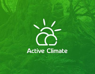 Active Climate logo design