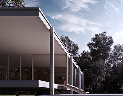 """Farnsworth House"" Project: Mies Van der Rohe (USA)"