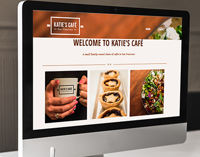 Katie's Cafe Web Design and Layout