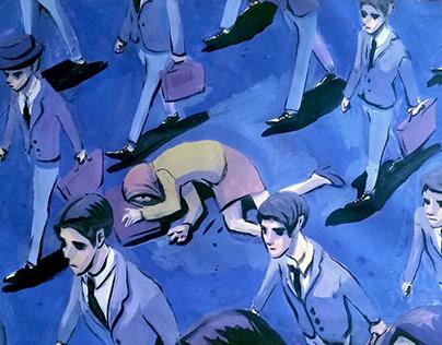 Sleep Deprivation for Women Editorial Illustration