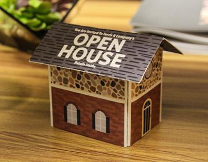 Open House Pop-Up Mailer Invite