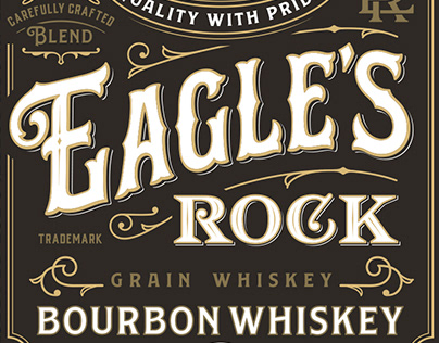 Bourbon Whiskey Eagle`s Rock
