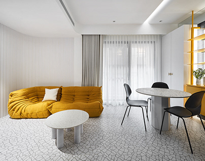 White Interior Design|Yellow House