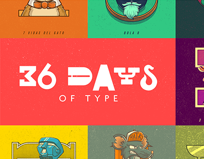 36 Days of Type: Expresiones de Colombia