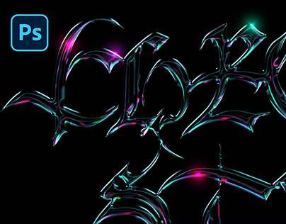 PSD NEON CHROME TEXT STYLE VOL.2