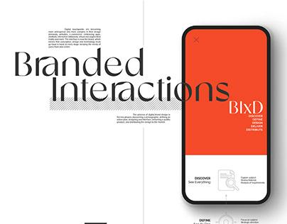 Branded Interactions - digital brand design