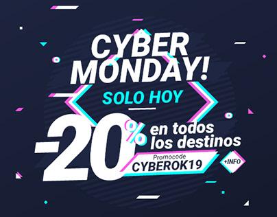 "DISEÑO GRÁFICAS PARA CAMPAÑA WEB ""Cyber Monday"""