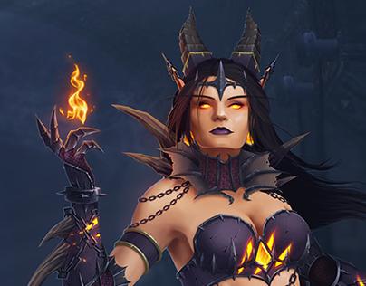 Warcraft inspired Lady Sinestra Dragon Queen