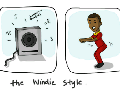 Illustration: How to dance, Windie Style