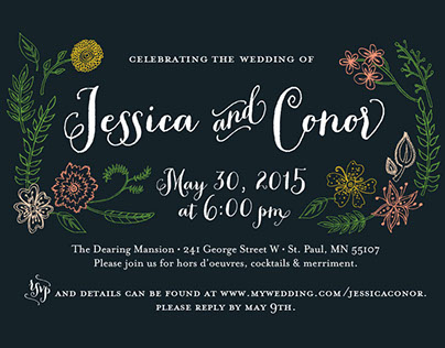 Jessica & Conor wedding invitation