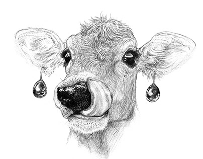 Cow with a Pearl Earring