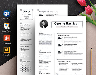 Clean Word Apple Pages Cv Resume Template