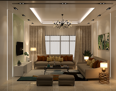 Modern Living Room -Jeddah
