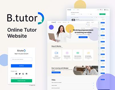 Online tutor website