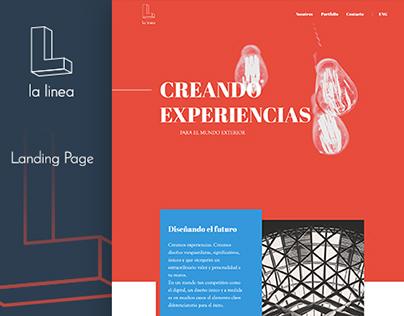 La Linea - Design studio landing page