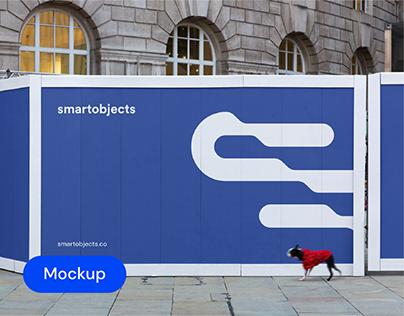 Hoarding 02   Signage Mockup Template