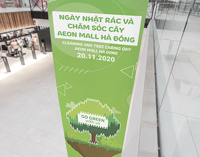 Standee design - AEONMALL HA DONG