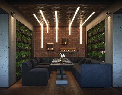 """Дизайн интерьера кафе """"Нивки"""" г. Киев. Зал 2 этаж."""