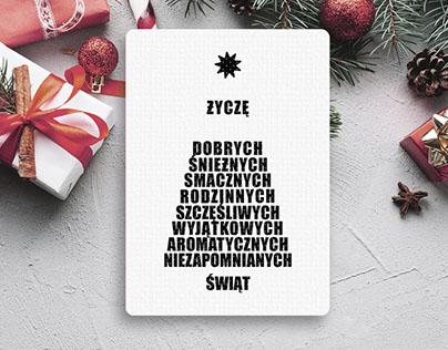 Typograficzna kartka dla fanów prostych form