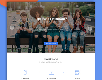 Smartphone Repair Website Design