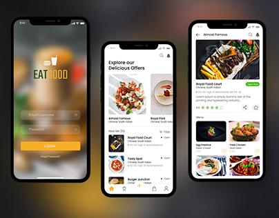Food ordering Mobile App Design Adobe XD Template