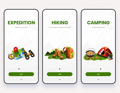 Travel Hiking Onboarding App