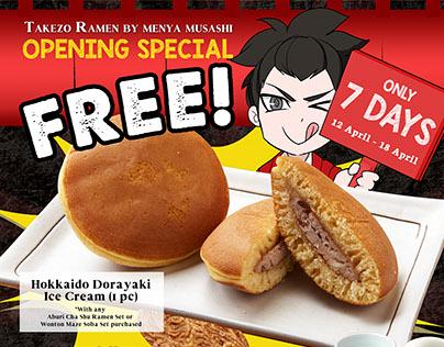 Takezo / Menya Musashi Singapore - Opening Promo