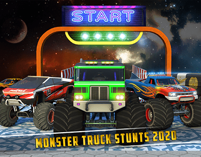 monster truck ramp stunt