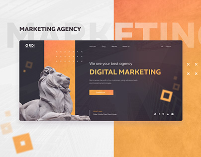 Design for a marketing agency