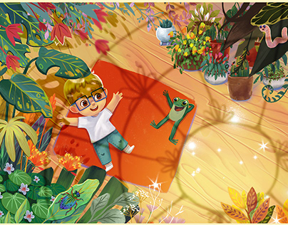 Illustrations for the book - Gio's Friendly Garden