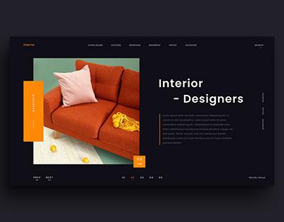 Interior Design website free Adobe XD template