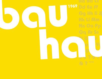 Bauhaus Type Poster