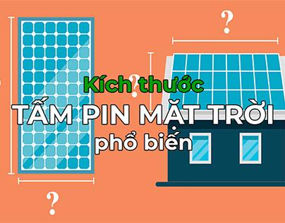 Kích thước tấm pin mặt trời