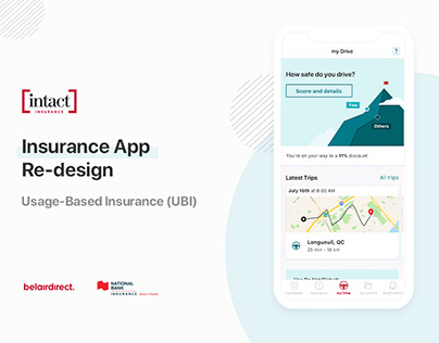 Intact insurance - Usage Based Insurance - App Redesign