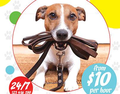 Dog Walker FREE PSD Flyer Template