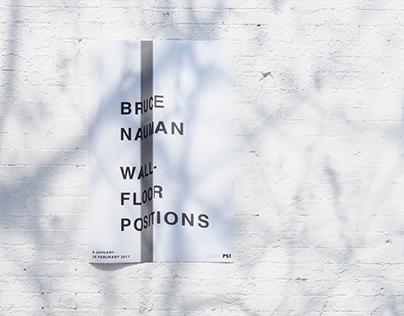Exhibition Identity: Bruce Nauman
