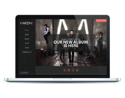 REDESIGN MAROON 5 WEBSITE