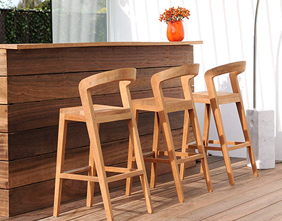 Teak Dinning Chairs for Bar Concept