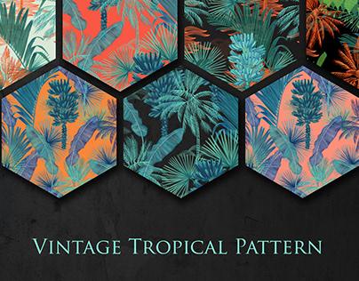 Vintage Tropical Pattern