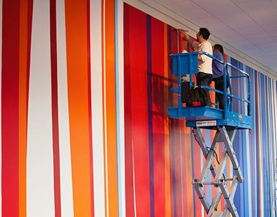 100 Lines Mural