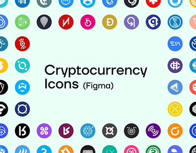 Free Cryptocurrency Icons in Figma file