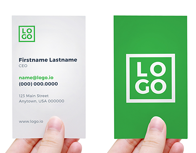 Hand Holding Business Card Template