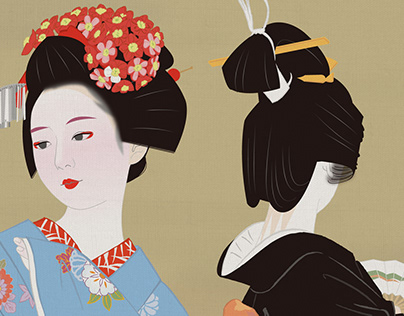 Dance with two of a maiko and the geisha