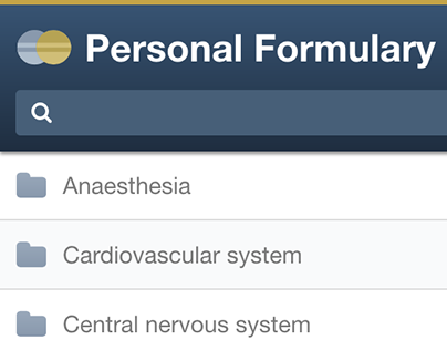 Personal Formulary app for Android and iOS