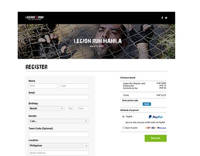 Legion Run Manila - Registration Page