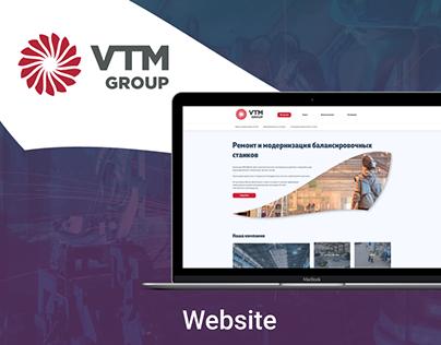 Website for machine manufacturer