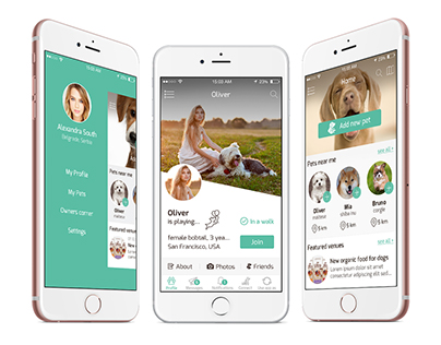iOS app for connecting pets